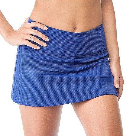 Saia Short Textura - Azul Royal
