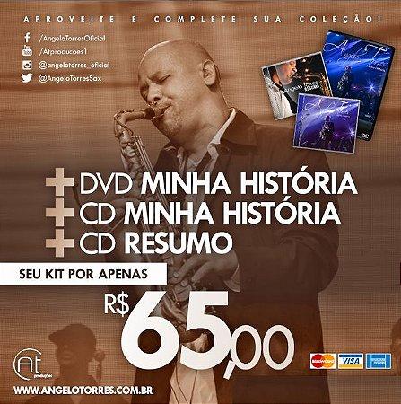 DVD e CD Minha História (Duplo) + CD Resumo (Coletânea) FRETE INCLUSO