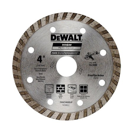 "Disco Diamantado Turbo 4"" High Performance 200X - DeWalt"