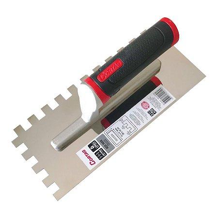 Desempenadeira Dentada 12mm Inox - 12x28 - Cortag