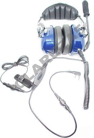 Fone headset para rádio aeronáutico aviação com PTT iCOM A14 a16 A22 A24 A3 A6 Ic-a16 Ic-a25