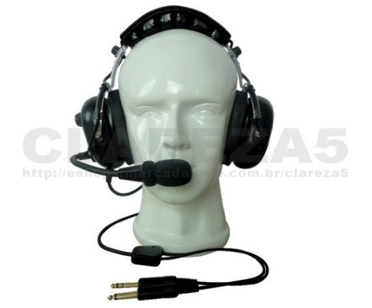 Headset de avião, fone para piloto aluno ou profissional PP PC INVA PLA, passageiro de aeronave, aviação geral PNR