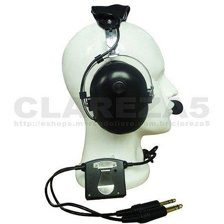 Headset para aviação, piloto de avião aluno ou profissional, fone de aviação geral com redutor de ruídos eletrônico