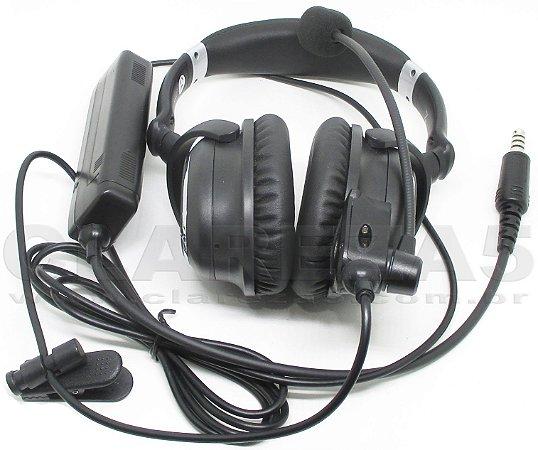 Fone Headset para helicóptero ANR profissional com cancelling redutor ruídos eletrônico piloto PCH PPH similar ao A20