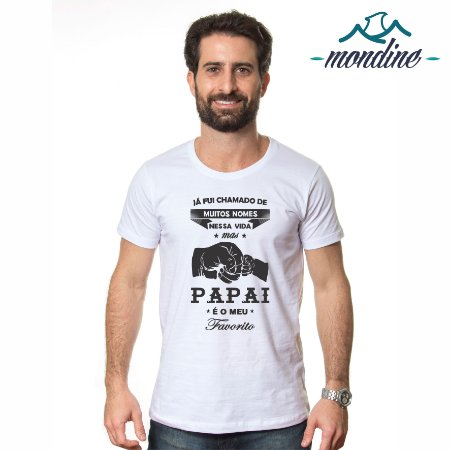 Camiseta Papai Favorito - Masculina - Mondine