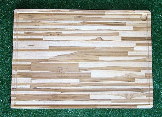 Tábua de Corte para Churrasco - Madeira Teca 70cm x 50cm