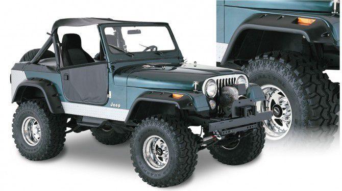 Alargador de Para lamas Bushwacker 17cm para Jeep Willys