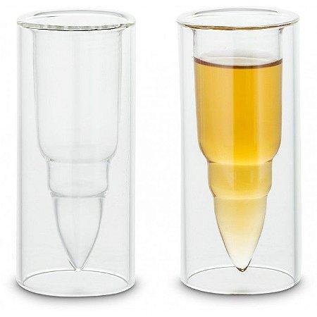 Conjunto de copos em formato de bala