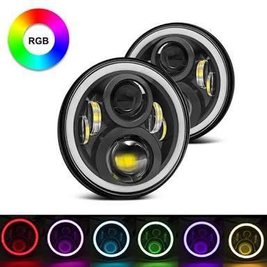 Par Farol Angel Eyes RGB Full LED - Nova Geração