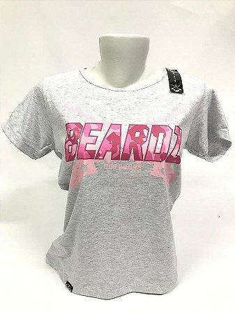 Camiseta Feminina Beardz Pink Cammo GG