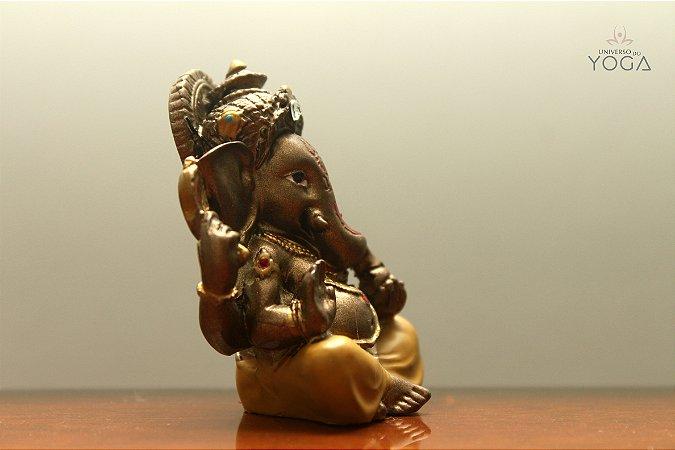 Ganesha miniatura em resina - Unidade