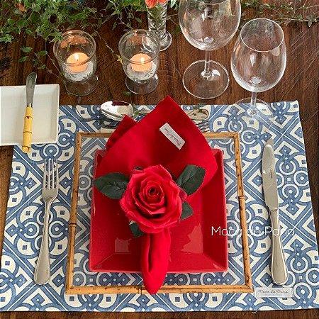 Porta Guardanapo Rosa Vermelha