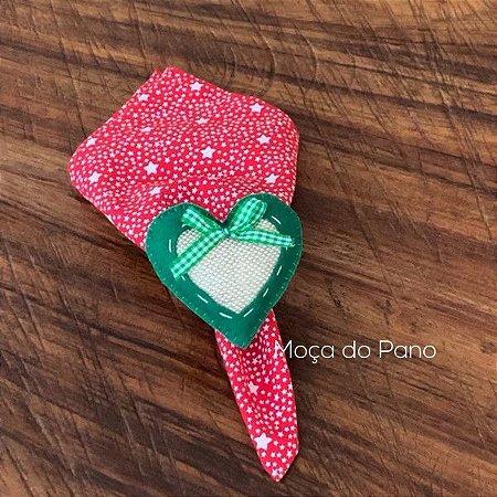 Porta Guardanapo Natal Coração Verde