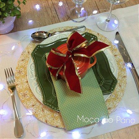 Capa de Sousplat Natal Mandala Dourada