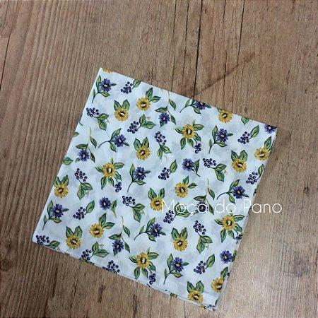 Guardanapo Floral Amarelo e Azul