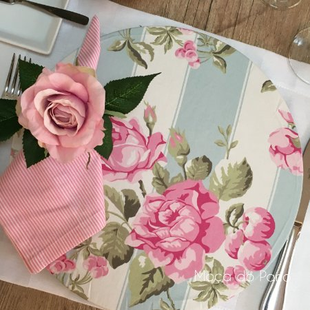 Capa de Sousplat Jardim de Amor Rosa