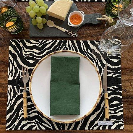 Jogo Americano Animal Print Zebra