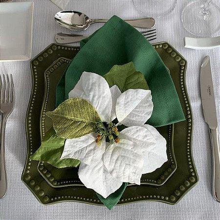 Porta Guardanapo Natal Flor do Espírito Santo Branca