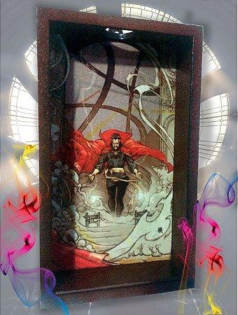 Quadro Porta Tampinhas ou Rolhas - Dr Strange (Doutor Estranho)