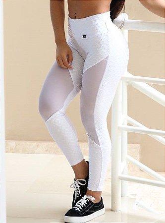 Calça Legging Branca com tule - Coleção Star
