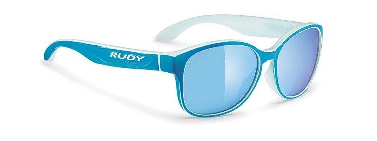 Óculos De Sol Rudy Project Broomstyk Azul Celeste Espelhado