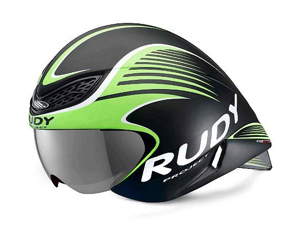 Capacete Rudy Project Wing57 Preto/Verde Fluorescente