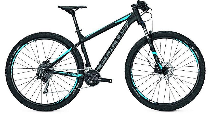 Bicicleta Mtb Focus Whistler Pro 29 New Deore 20v Preto/Azul 2017 Tamanho M