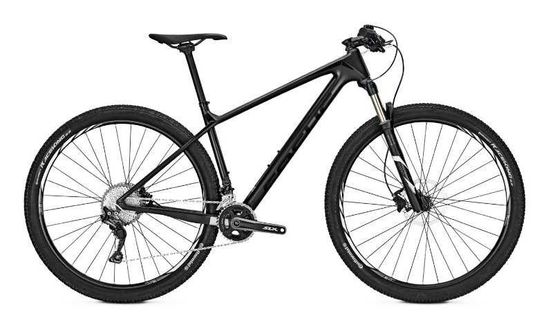 Bicicleta Mtb Focus Raven Core 29 Carbono - Shimano Slx 22v Preta 2017 Tamanho M