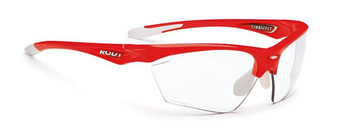 Óculos Rudy Project Stratofly Lentes Fotocromática Vermelho Fluor