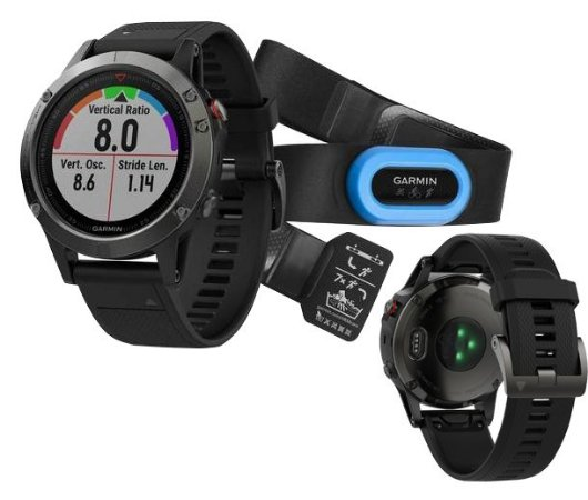 Garmin Fenix 5 Bundle Cinza 47mm 010-01688-30