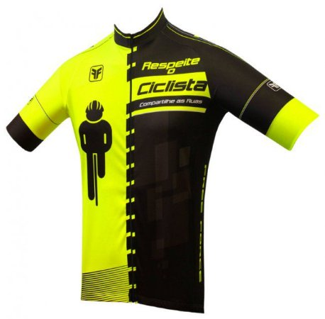 Camisa Free Force Masculina Transit Amarelo Preto