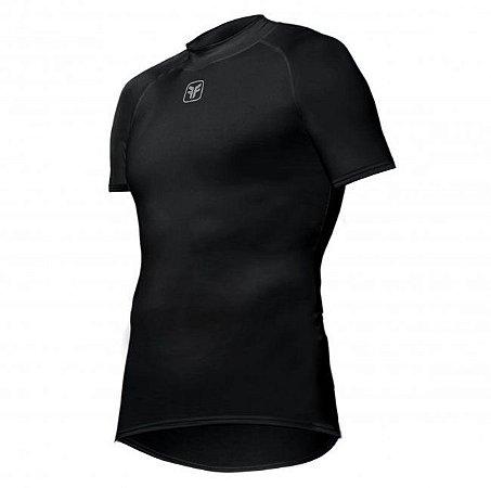 Camisa Free Force Skin Fit Segunda Pele Ciclismo Preta