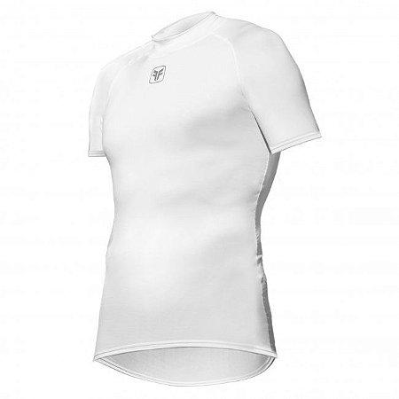 Camisa Free Force Skin Fit Segunda Pele Ciclismo Branca
