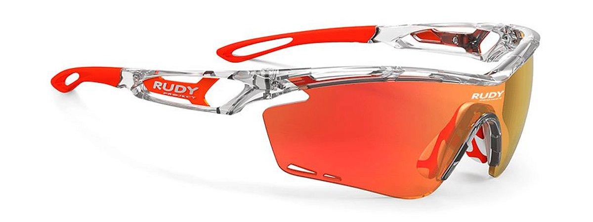 Óculos Rudy Project Tralyx Cristal Laranja Fluor