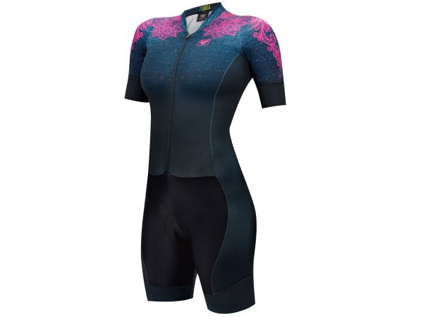 Macaquinho Ciclismo Feminino Free Force Denim Fit
