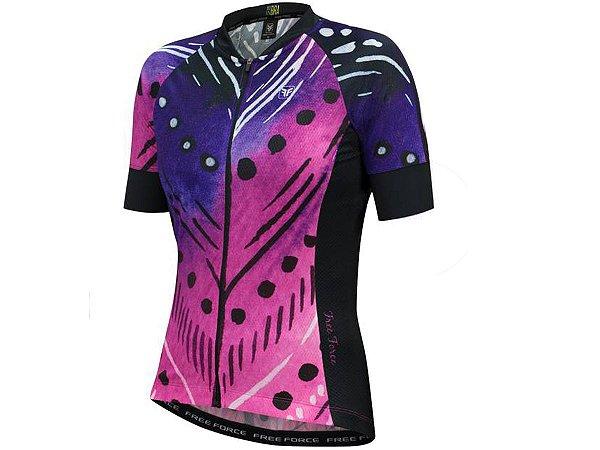 Camisa Ciclismo Feminina Free Force Plume