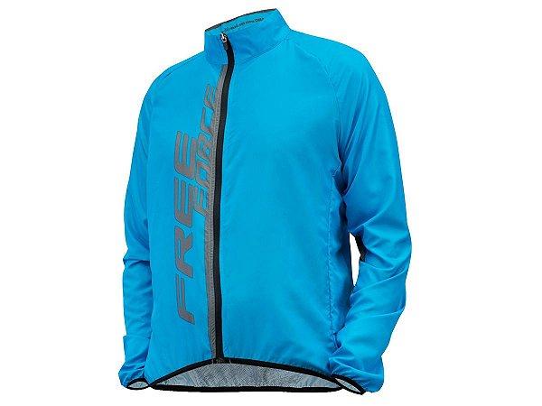 Jaqueta Ciclismo Corta Vento Free Force Fit Azul Masculina