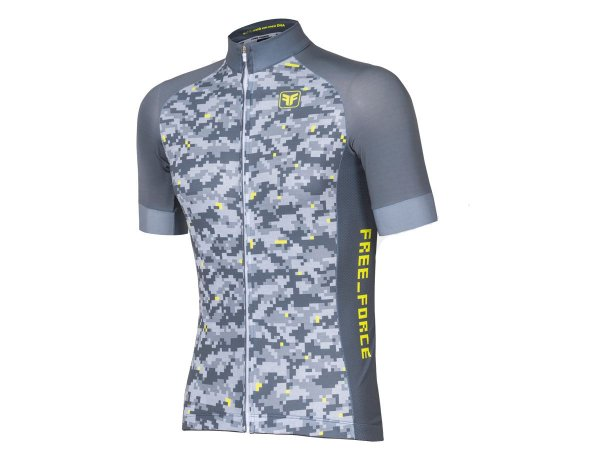 Camisa Ciclismo Free Force Military Cinza Masculina