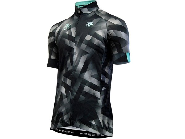 Camisa Ciclismo Free Force Harsh Preta Masculina