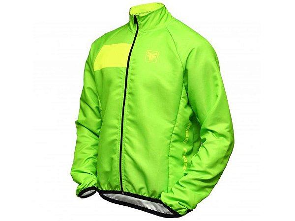 Jaqueta Ciclismo Corta Vento Free Force Visible Verde Fluor