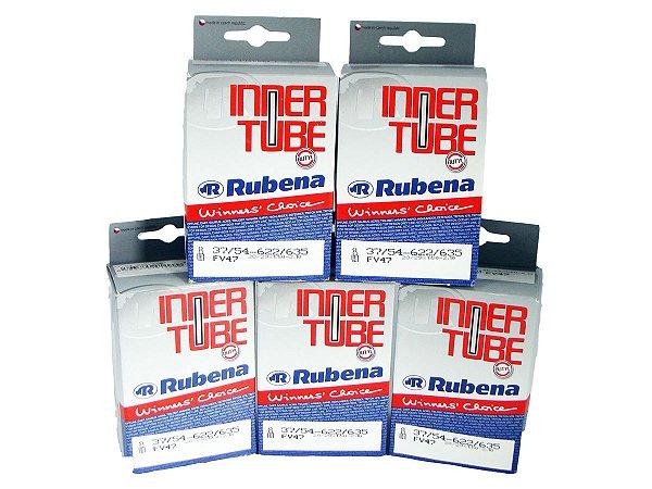 Câmara De Ar Rubena 29 X 1.50/2.10 Presta 47mm 5 Unidades