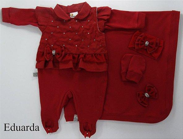 Saída Maternidade Eduarda Vermelho