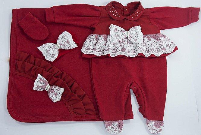 Saída Maternidade Valentina Vermelha