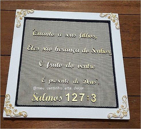 Quadro decorativo salmo 1273