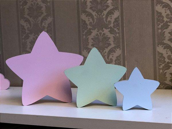 Trio de estrela decorativa