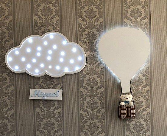 Composição nuvem porta maternidade balão