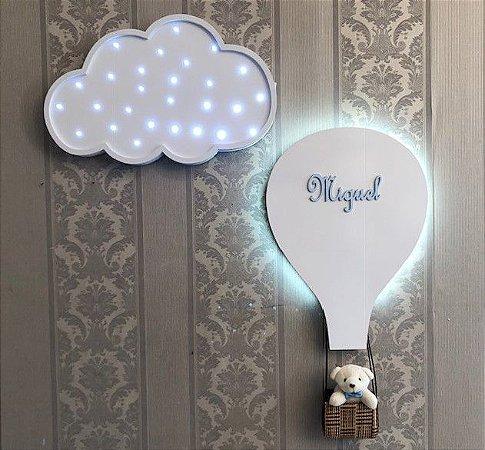 Balão porta maternidade mais nuvem decorativa
