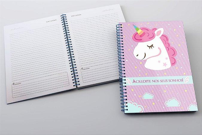 Caderno Unicórnio Lilás