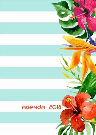 Agenda Floral Azul