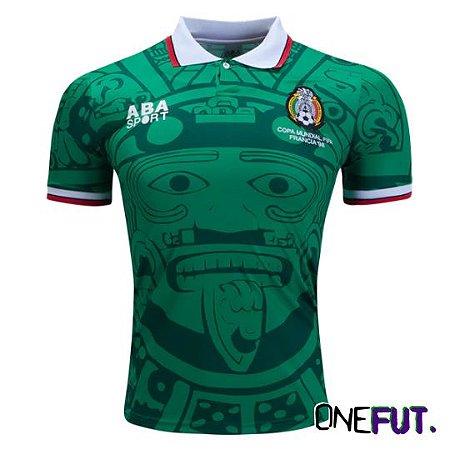 CAMISA DE FUTEBOL MEXICO I RETRÔ 1998